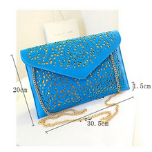 Hot Fashion Women Cutout Handbags European and American Style Hollow Out Shoulder Bags Day Clutches Lady