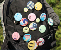 Hot DRAMAtical Murder DMMD Noiz Badge Mink Clear Koujaku Aoba Buttons Cosplay Anime Costumes Products Free Shipping