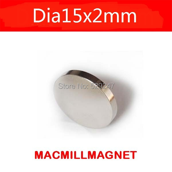 Strong Magnets 10pcs Bulk Round NdFeB Neodymium Disc Magnets D15x2mm N35 Super Powerful Strong Rare Earth NdFeB Magnets(China (Mainland))