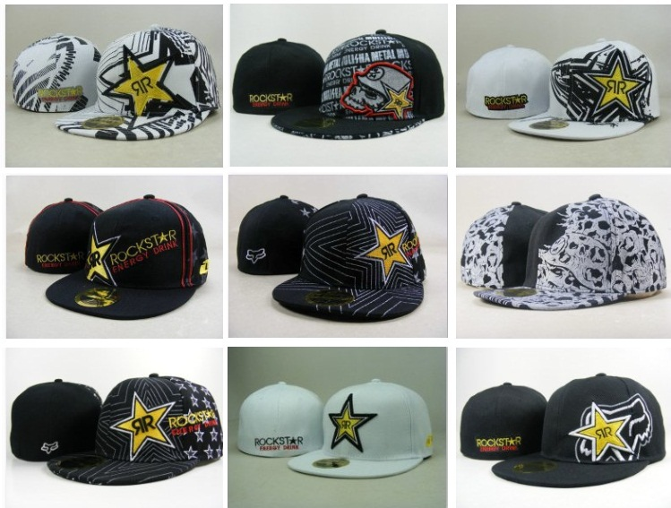 Мужская бейсболка Fashion : 7, 7 1/8, 7 1/4, 7 3/8, 7 1/2, 7 5/8 Rockstar /snapbacks HipHop удочка sharp 1 8 2 1 2 4