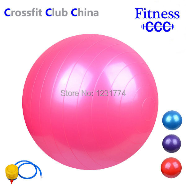 75cm(Pink,Blue,Purple,Red,Gray) Yoga Ball Health Balance Pilates Fitness Gym Home Exercise Sport with Air Pump(China (Mainland))