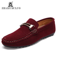New 2016 Fashion Suede Leather Men Loafers Moccasins Comfortable Men Driving Shoes Slip On Casual Male Flats Sapatos Masculino