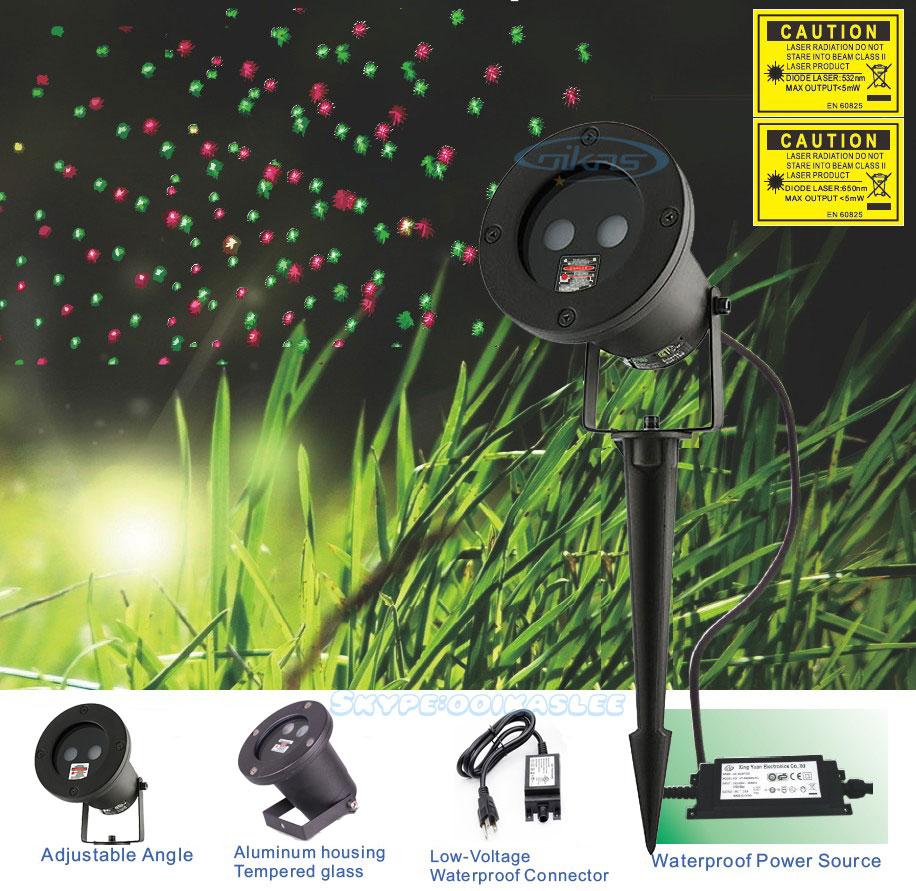 IP65 Outdoor Waterproof Red Green Christmas Laser