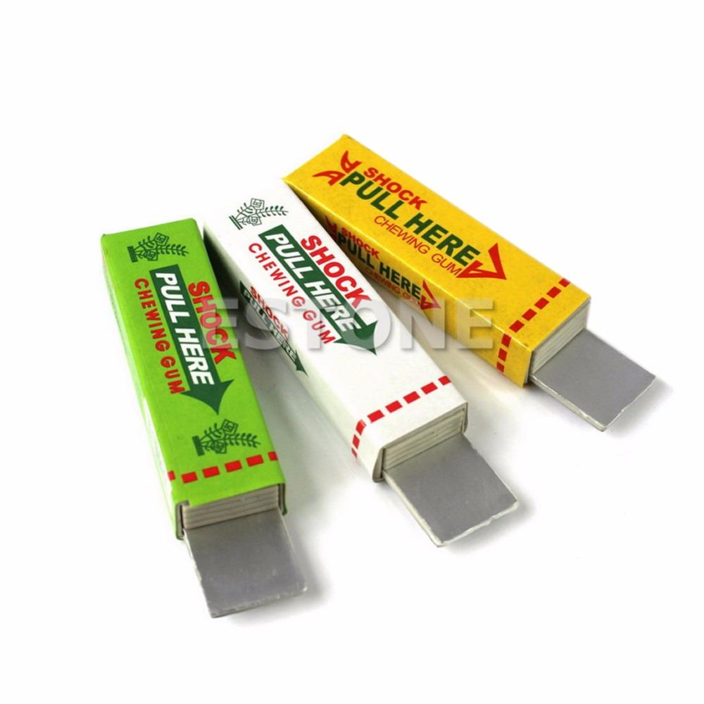 1PC Electric Shock Chewing Gum Prank Joke Gag Trick New(China (Mainland))