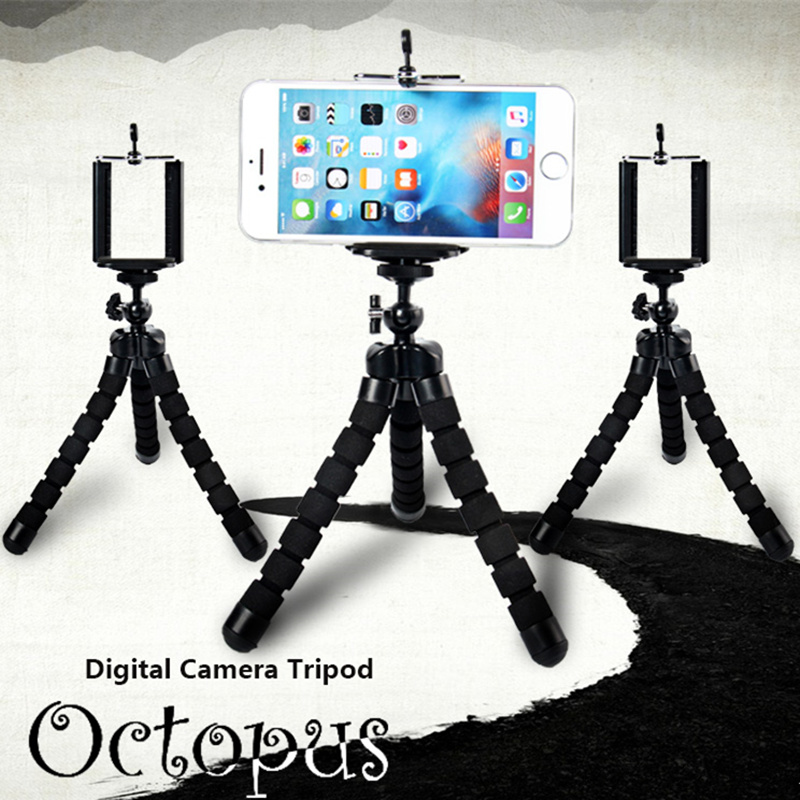 Universal Flexible Octopus Tripod Leg +Stand Mount Phone Holder Clip, Digital Camera Tripod, Cell Phone Holder Stand Display Kit(China (Mainland))