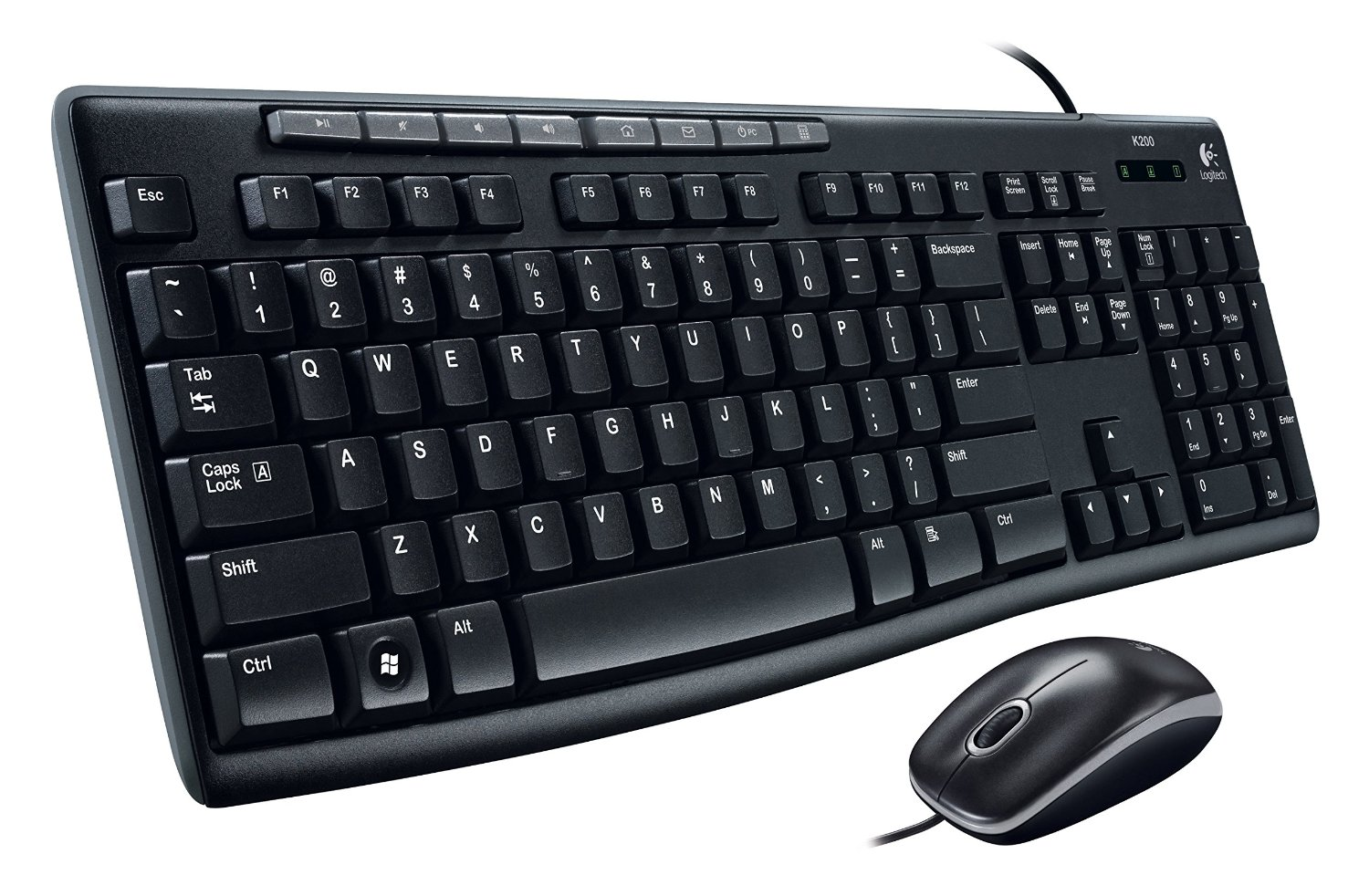 Logitech Media Combo MK200 Full-Size Keyboard and High-Definition Optical Mouse(China (Mainland))