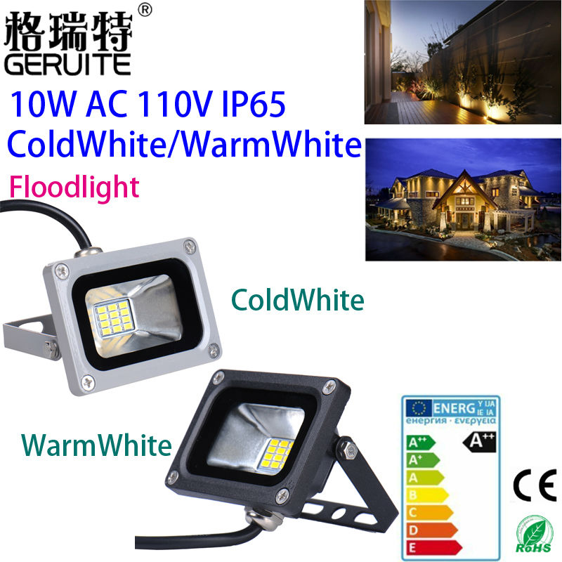 10PCS 10W 110V Mini 720Lm LED FloodLight IP65 Waterproof Landscape LED outdoor Flood lighting Lamp IP65 High Luminous Efficiency(China (Mainland))