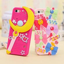 Luxury 3D Cute Sailor Moon Design Soft Silicon Mobile Phone Case Lovely Rubber Cover For Iphone 5 5s se 6 6s 6 Plus 6S 6Plus