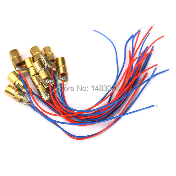 10pcs 650nm 6mm 3V 5mW Laser Dot Diode Module Head With Red Dot High Quality(China (Mainland))