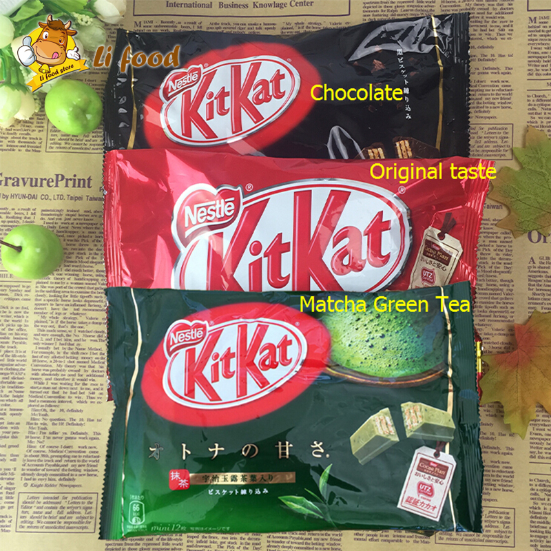 3 pcs /pack Japan nestle Kit Kat ,3 kinds Flavor Japanese Food Sweets Matcha Green Tea Chocolate Sandwich Wafer Snack Kid Gift<br><br>Aliexpress
