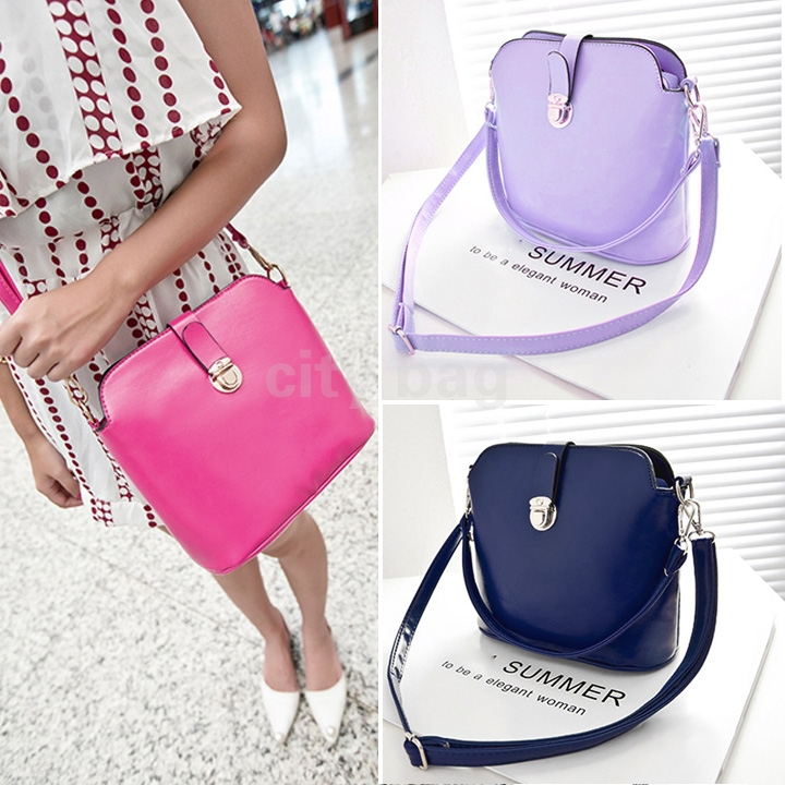 Bolsas Feminina Leather Solid Color Crossbody Bag Vintage Womens Tote Handbag Casual Summer Shoulder Messenger - city bag store