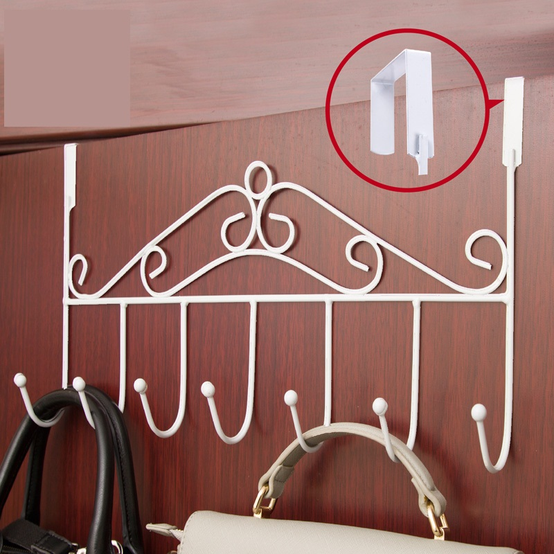European style creative wrought iron door hook hanger simple bedroom clothes tree hanging clothes rack not fall to the ground(China (Mainland))