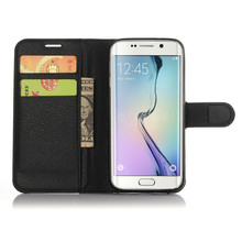 Leather Flip Case With Card Holder for Samsung GALAXY S7 EDGE