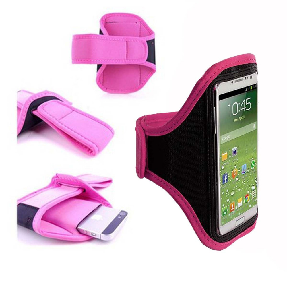 """Pink Running Sport Armband GYM Skin Case Cover for Mobile Cell Phone Blackberry Z20 5""""(China (Mainland))"""