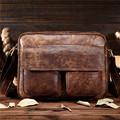BILLETERA Vintage Men Messenger Bags Genuine Leather Men Shoulder Bag Handbag Cross Body