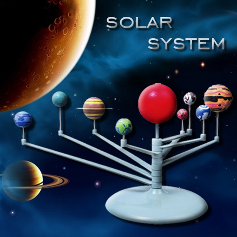 DIY 3D Simulation Eductional Toys The Nine Planets Teaching model Solar System Celestial Bodies Planets Model Educational Toys(China (Mainland))
