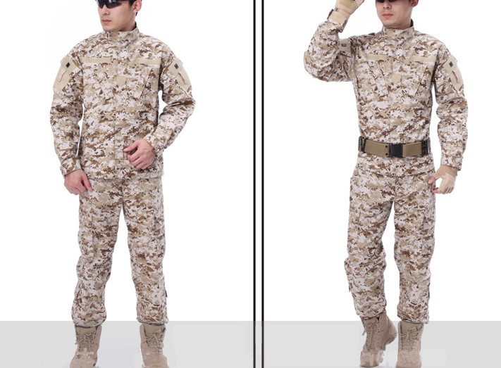 virtues of long-sleeved camouflage suit camouflage combat uniforms outdoor clothing desert digital camouflage CS S-XXL<br><br>Aliexpress