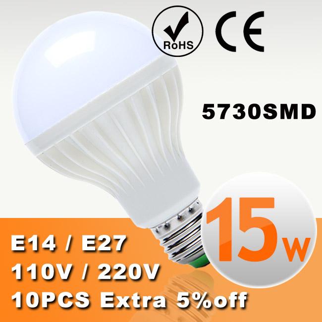 5pcs/lot LED Bulb LED E27 E14 Bulb Led Lamp Light 3W 5W 7W 9W 12W 15W 18W 220V 110V Cold Warm White Led Spotlight Lamps(China (Mainland))