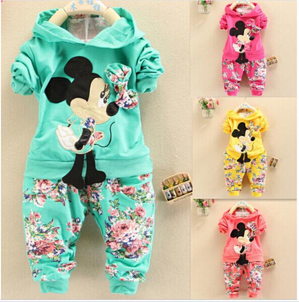 2015 new fashion Spring Autumn baby girls Sport suit set long sleeve children hoodies+pants clothes sets kids 2 pcs clothing set(China (Mainland))