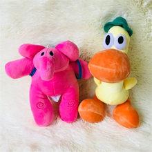 1 set/lote elefante boneca dos desenhos animados plush pocoyo zinkia pato brinquedos do cão Decoração de casa decoração do carro de presente de Natal(China)