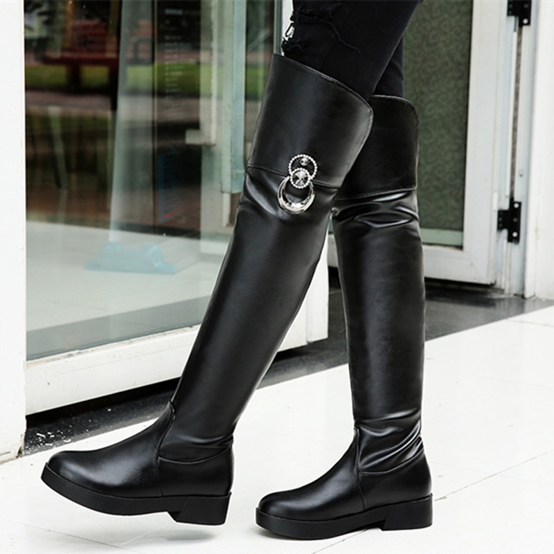 Womens Tall Leather Winter Boots | Santa Barbara Institute for