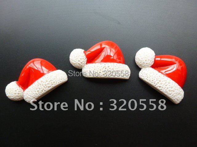 "Christmas hat 50pcs 1.2""  so lovely FlatBack Resins Scrapbooking Embellishment"