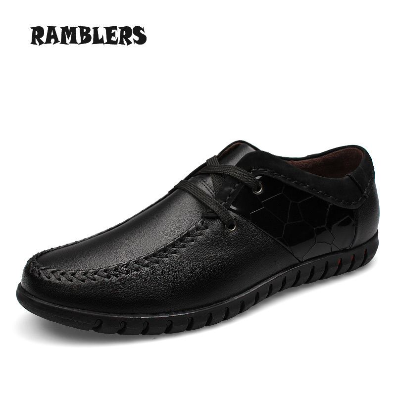 Big Size 46 Men Shoes Business Formal Flats Lace Up Genuine Leather Shoes Soft Mocassin Zapatos Hombre Casual Shoes Oxford Dress