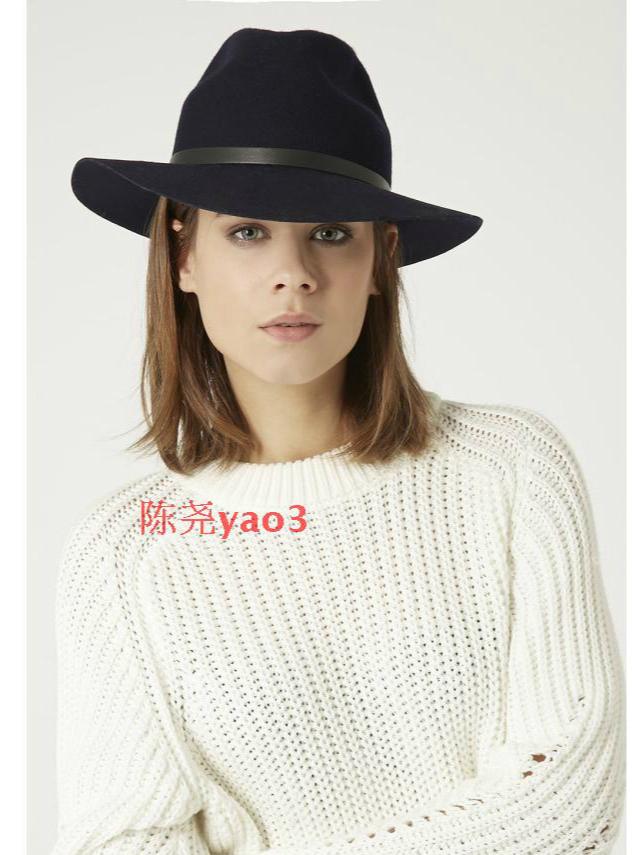 Lady 100% Wool Hat Spring English British Style Classic Hat with Bowler Hat Women Elegant Wool Felt Bowler Fedora Hat B-4057(China (Mainland))