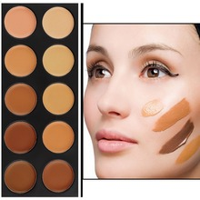 10 color Face Care Brand Base Primer Makeup Foundation Concealer Contour Palette BB Creams Professional Make Up Bronzers