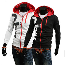 Moleton Limited Sale Hoodie Tracksuits 2014 Spring Male Fashion Personality Zipper with A Hood Letter Print Slim Sweatshirt Coat(China (Mainland))