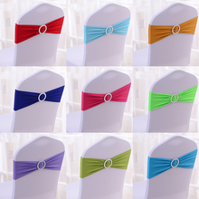 Wholesale 100pcs/lot Spandex Lycra Wedding Chair Cover Sash Bands Wedding Party Birthday Chair Decoration(China (Mainland))