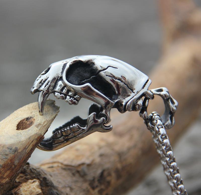Original design male stainless steel ferocious beast Dinosaur Skull pendant necklace creative accessory free shipping<br><br>Aliexpress
