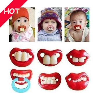 Quality interest creative silicone baby pacifier funny nipple pacifier buck baby pacifier teeth and rabbit teeth Cute Teeth(China (Mainland))