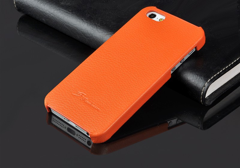 Top Quality Cell Phone Case For iPhone 5G 5S Genuine Leather Lichee Flip Cover Back Cover For Iphone(China (Mainland))