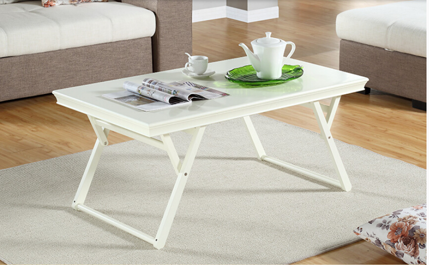 Completely real wood folding table.. Living room desk. Modern simple small family. Small tea table(China (Mainland))