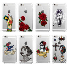 Buy Punk Tattoo Rose Mexico Skull Girls Gang Soft TPU Phone Case Coque Funda iPhone 7 7Plus 6 6S 6Plus 5 5S SE 4 4S 5C Samsung for $1.43 in AliExpress store