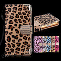 For Samsung Galaxy S4 S5 S6 S6edge Note 3 4 Luxury Wallet Leopard Leather Case Diamond