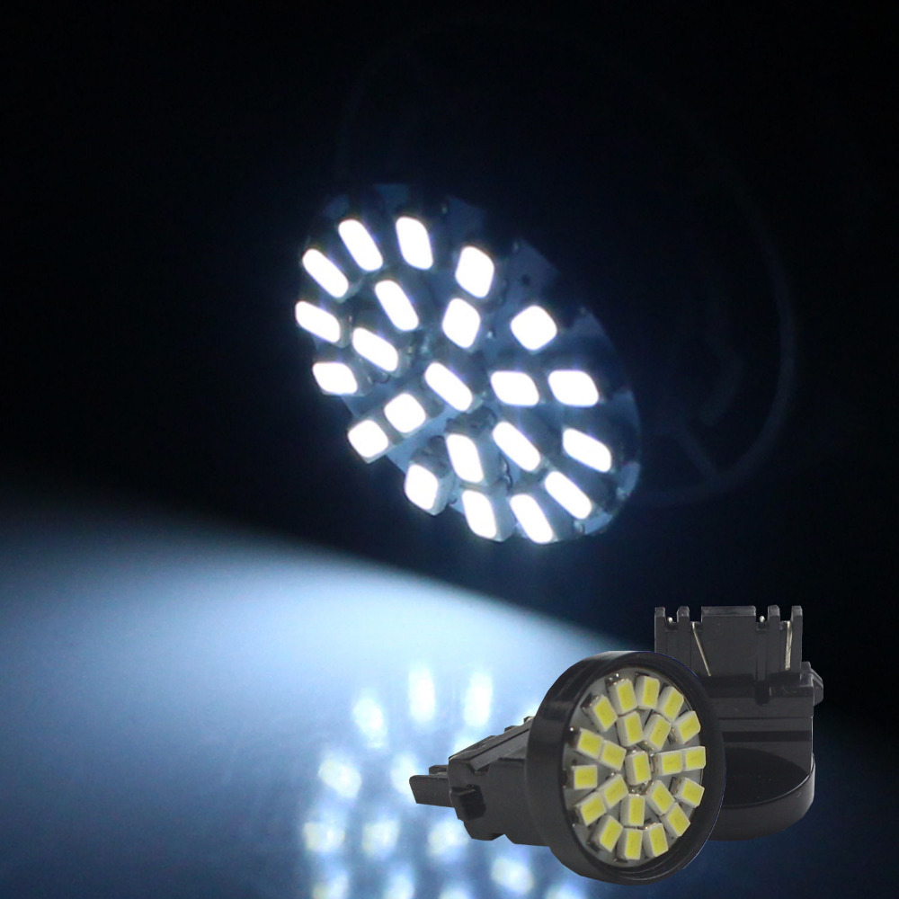 2pcs Bright White 3157 3057 LED 22 SMD Brake Tail Light Bulbs(China (Mainland))