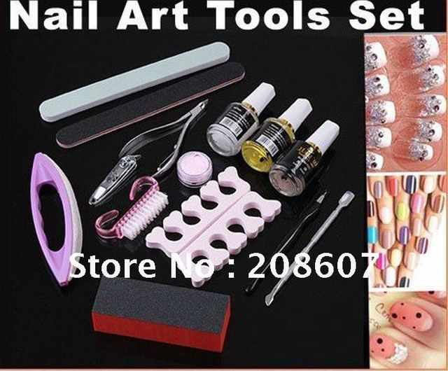 Freeshipping Manicure Pedicure Nail Art Tool Cuticle Nipper Cutter Sanding File Kit Nail Care Set Nail Clippers Repire UV Gel