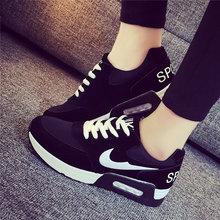Корзина роковой 2016 Chaussure роковой осень мода для женщин свободного покроя женщины клин обувь Zapatos Mujer бег плоские туфли