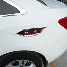 3D Simulation Leopard Eyes Peeking Monster Waterproof Decal Car Sticker(China (Mainland))