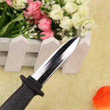 Trick Dagger Knife Retractable SLIDE IN Blade Fun Joke Prank Halloween Prop Fake(China (Mainland))