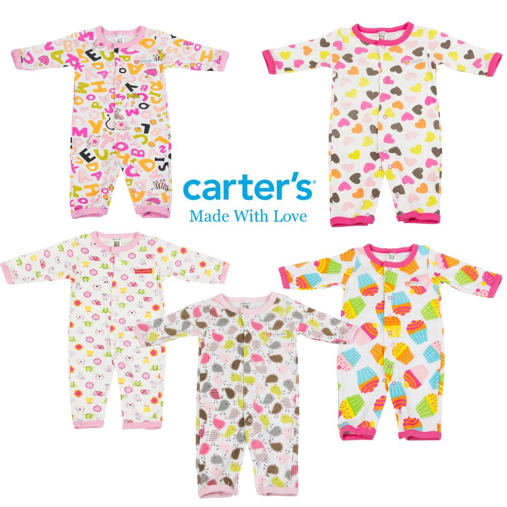 Carters baby rompers girls jumpsuit infant pajamas newborn overall clothing 100% cotton Spring Autumn size in 3M 6M 9M 12M(China (Mainland))
