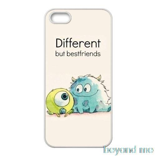 Different But Best Friends Cover case for iphone 4 4s 5 5s 5c 6 6s plus samsung galaxy S3 S4 mini S5 S6 Note 2 3 4 z0471(China (Mainland))