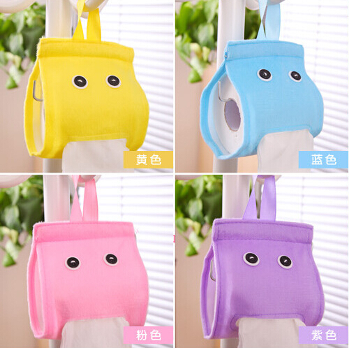 Multicolor Cute Cartoon Tissue Case Suit for Roll Paper for Room Toilet or Car Lazy Paper Towel Storage Boxes XHH05161(China (Mainland))
