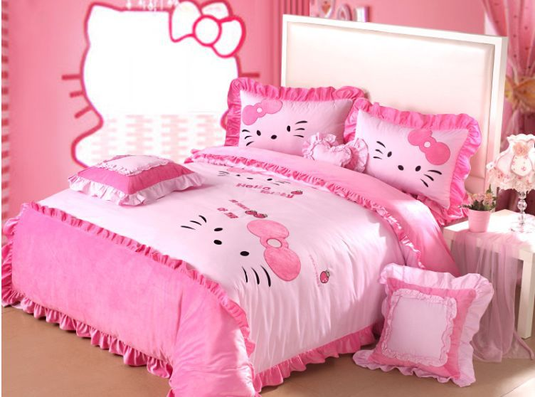 pink hello kitty queen size bedding princess minnie mouse bedding set