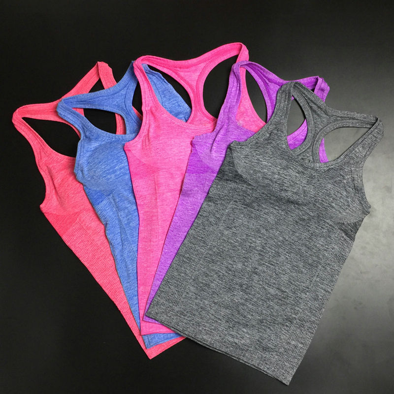 2016 Strappy Bra Strapless None Regular Solid Nylon Tank Tops Sports Summer Style Top Quick Dry Hot Ladies Fitness Gym Tank Nb2(China (Mainland))