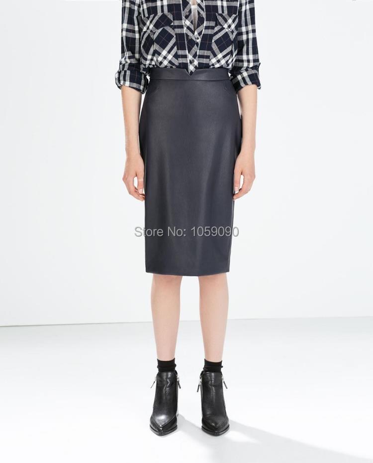 Brand 2015 Fashion New ZA Genuine Leather Long Slim High