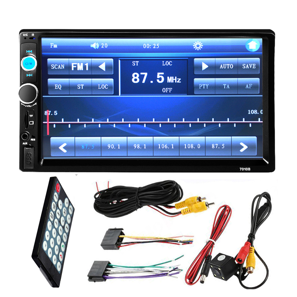 """7"""" Inch LCD 2 DIN HD Car Radio MP5 Player In-Dash Touch Screen Bluetooth HD Rear View Camera Car Stereo FM + Wireless Remote(China (Mainland))"""