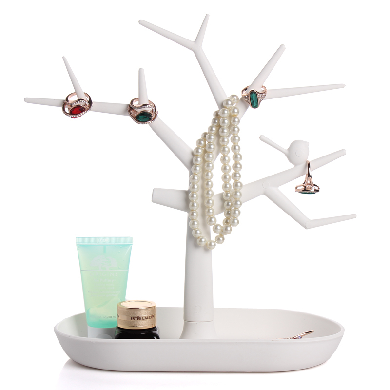 2015 New Multifunctional Tree Branch Shape White color Jewelry Display Earring Bracelet Necklace Ring Display stand for earrings()